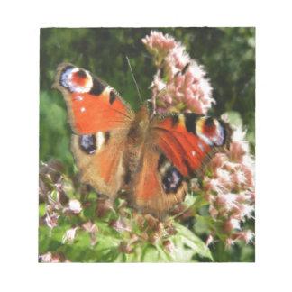 Pintura al óleo de la mariposa bloc de notas