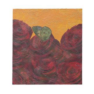 Pintura al óleo de los rosas del vintage libretas para notas