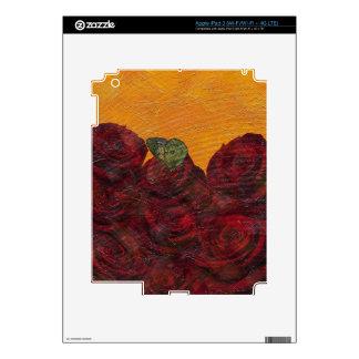 Pintura al óleo de los rosas del vintage pegatinas skins para iPad 3