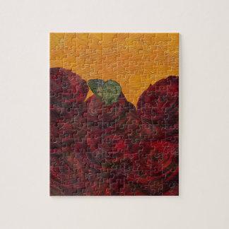 Pintura al óleo de los rosas del vintage puzzle