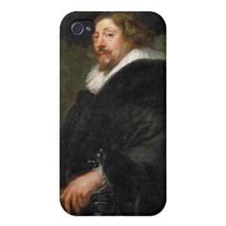 Pintura al óleo de Peter Paul Rubens del autorretr iPhone 4 Protectores