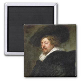 Pintura al óleo de Peter Paul Rubens del autorretr Imán Cuadrado