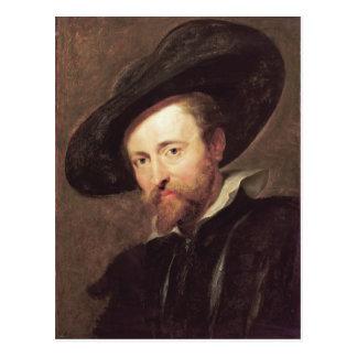 Pintura al óleo de Peter Paul Rubens del autorretr Tarjeta Postal