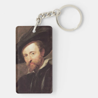 Pintura al óleo de Peter Paul Rubens del Llavero Rectangular Acrílico A Doble Cara