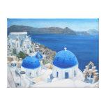 Pintura al óleo de Santorini Oia Impresión De Lienzo