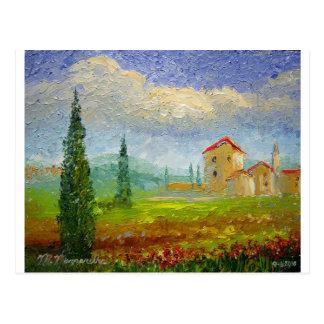 Pintura al óleo de Toscana Tarjetas Postales