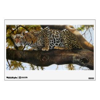 Pintura al óleo de un leopardo Walldecal Vinilo