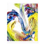 Pintura al óleo de una mujer, retrato tarjeta postal