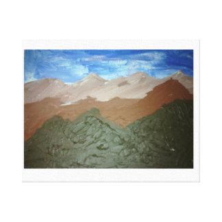 Pintura al óleo del arte de la cordillera impresiones en lienzo estiradas