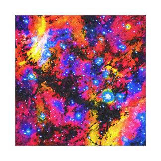 Pintura al óleo del arte moderno de la nebulosa de lienzo envuelto para galerias
