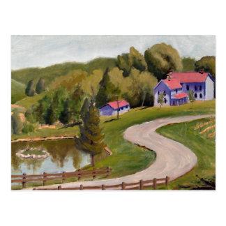 Pintura al óleo del paisaje de la opinión de la co postales