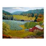 Pintura al óleo del paisaje del viñedo de Missouri