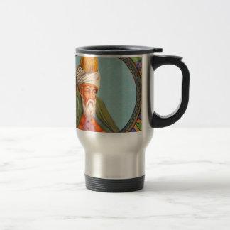 pintura al óleo del retrato del rumi taza de viaje de acero inoxidable