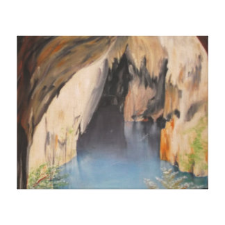 Pintura al óleo en las cuevas de Sinoia de la lona Impresion De Lienzo