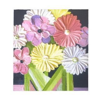 Pintura al óleo floral #1 blocs de papel