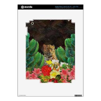 Pintura al óleo floral del cactus hermoso del iPad 3 pegatinas skins