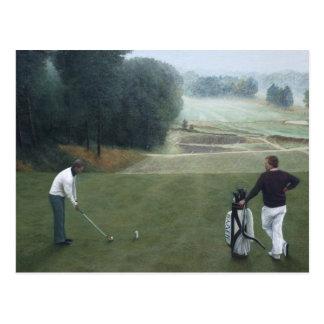 Pintura al óleo Golfing No.1 de Ron McGill Tarjetas Postales