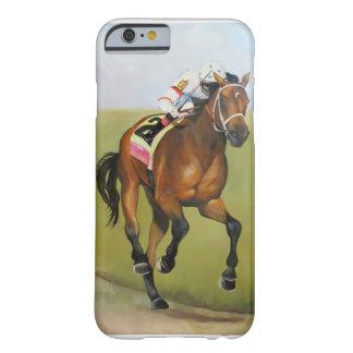 Pintura al óleo grande del caballo de Brown Rsce Funda De iPhone 6 Slim