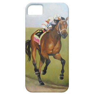 Pintura al óleo grande del caballo de Brown Rsce iPhone 5 Carcasas