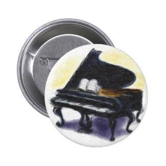 Pintura al óleo: Mi piano Pin Redondo 5 Cm