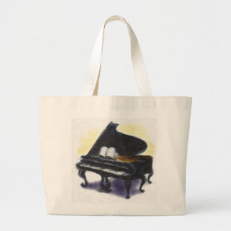 Pintura al óleo: Mi piano Bolsa Tela Grande