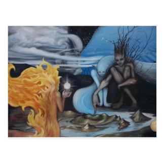 """pintura al óleo original de la """"creación"""" de Jon Postales"""