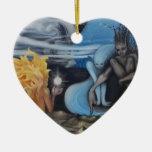 """pintura al óleo original de la """"creación"""" de Jon R Ornamentos De Navidad"""