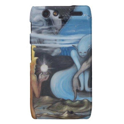 """pintura al óleo original de la """"creación"""" de Jon R Motorola Droid RAZR Carcasa"""