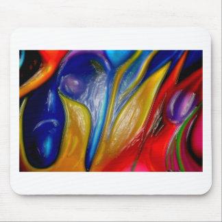 pintura al óleo, original, moderno, abstracto, roj alfombrillas de ratones