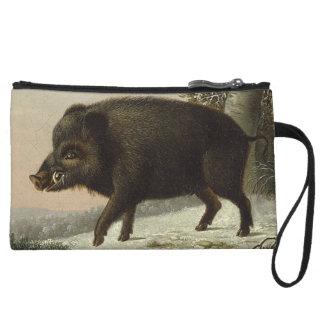 Pintura alemana del vintage del cerdo del verraco