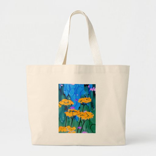 Pintura amarilla del arte de la flor de la milenra bolsa