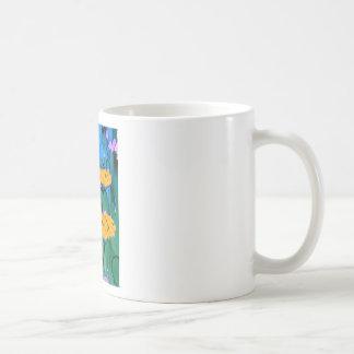 Pintura amarilla del arte de la flor de la taza clásica