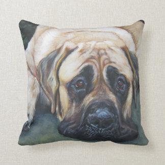 Pintura americana de la bella arte del mastín almohadas