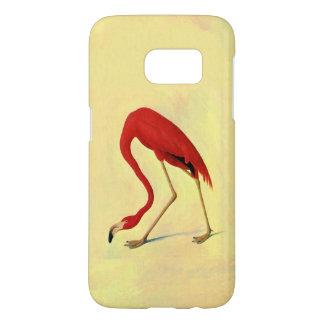 Pintura americana del flamenco de Audubon Funda Samsung Galaxy S7