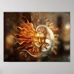 Pintura: Amores lunares solares Impresiones