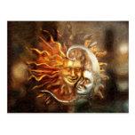 Pintura: Amores lunares solares Postales