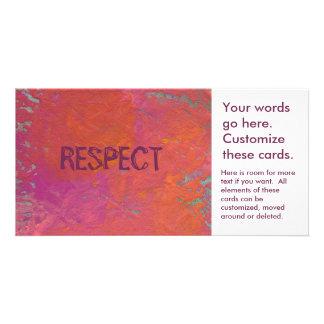 Pintura anaranjada rosada colorida del arte de la tarjeta con foto personalizada
