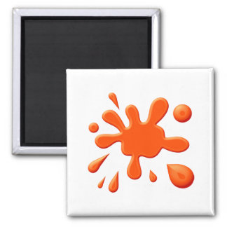 Pintura anaranjada Splodge Iman De Frigorífico
