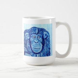 Pintura animal del chimpancé del arte divertido az tazas