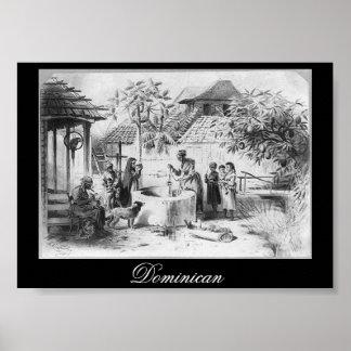 Pintura antigua de la República Dominicana circa 1 Póster
