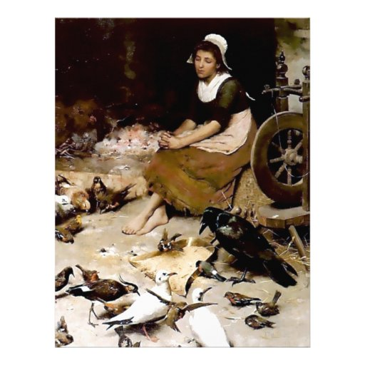 Pintura antigua de las palomas del cuervo del negr membrete personalizado