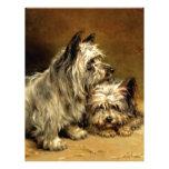 Pintura antigua de los mascotas de los perros de T