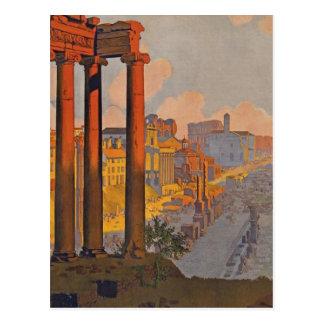 Pintura antigua del anuncio del viaje de Roma Postales