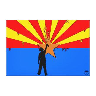 Pintura Arizona Lona Envuelta Para Galerias