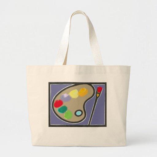 pintura - artes visuales bolsa tela grande