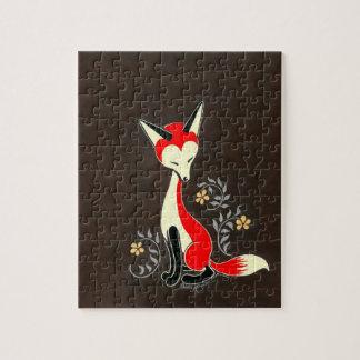 Pintura artsy moderna linda del Fox Rompecabeza