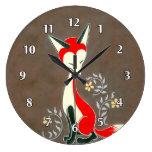 Pintura artsy moderna linda del Fox Reloj