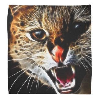Pintura asustada del gato bandana