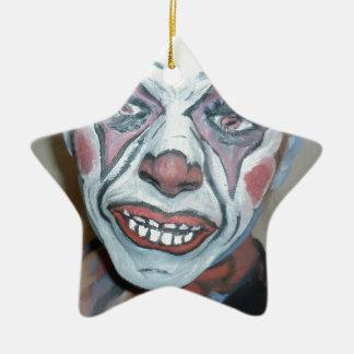 Pintura asustadiza de la cara del payaso de los pa ornamente de reyes