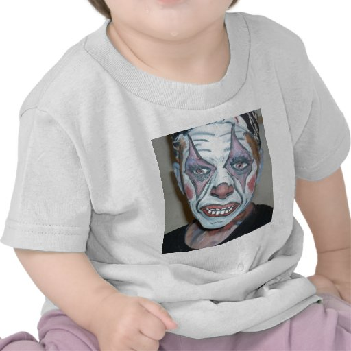 Pintura asustadiza de la cara del payaso de los pa camiseta